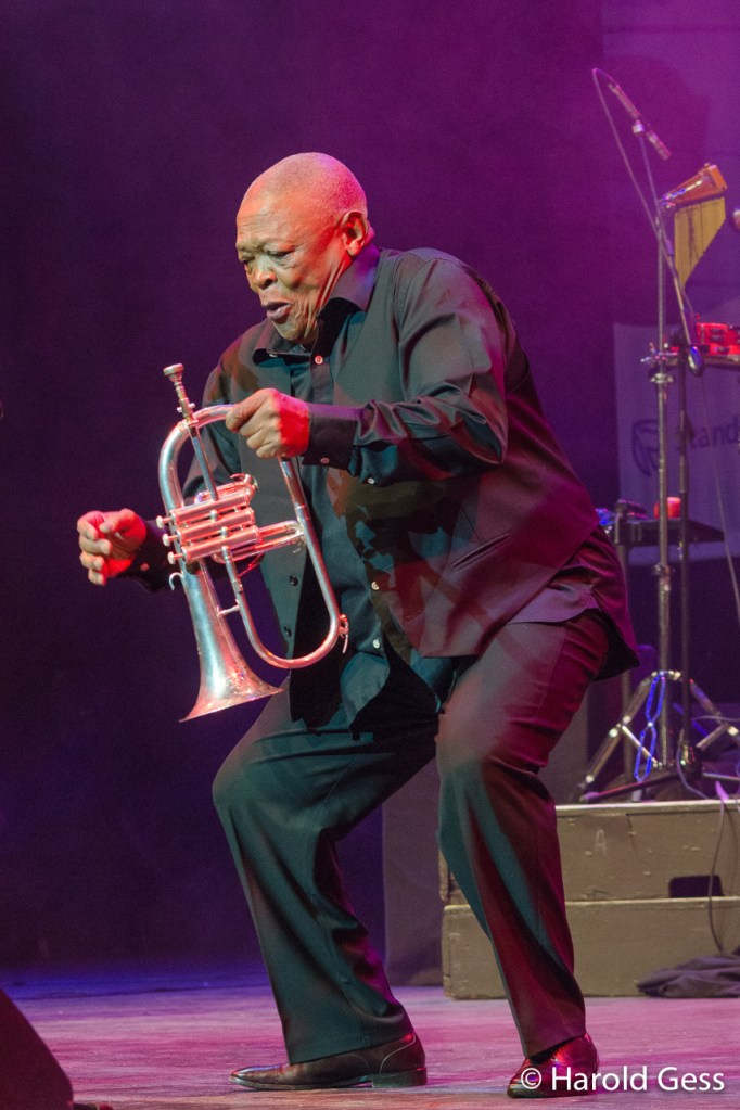 Hugh Masekela, Grahamstown, Eastern Cape, 2014.