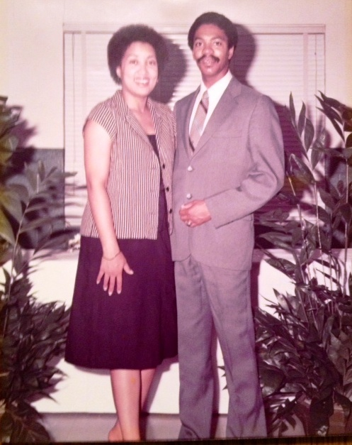 Cyn Harvey and Harold Michael Harvey attending the wedding reception for Cotilda and Gerald Harvey, circa July 1979 Photo Credits: Horace Holmes