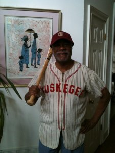 Harold Michael Harvey in Tuskegee Baseball Jersey