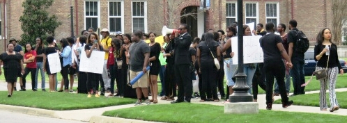 In their second day of protest, students at Tuskegee University are vowing to boycott classes until their demands are met.