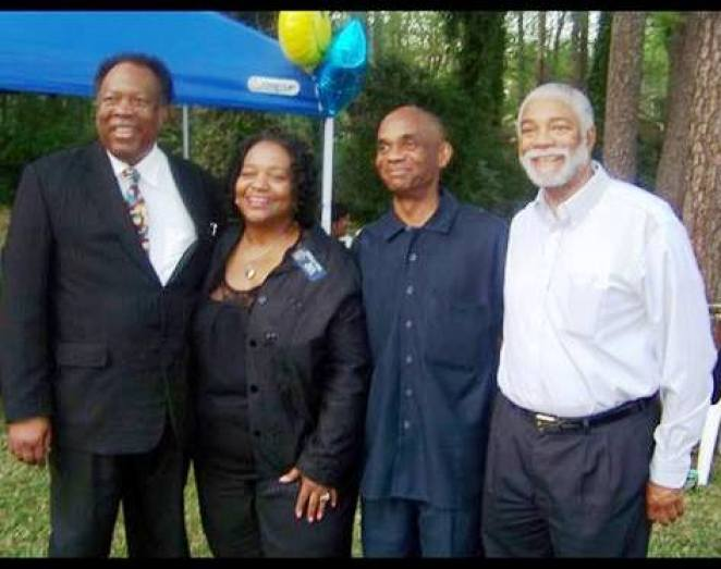 A. Reginald Eaves was the consummate mentor. Here he is shown several mentees, State Senator Donzella James, Steve Muhammad and Harold Michael Harvey
