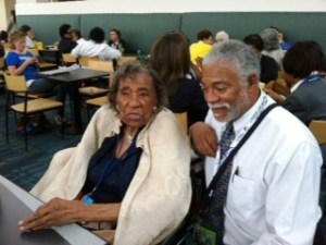 Harold Michael Harvey and Amelia Boynton Robinson at DNC