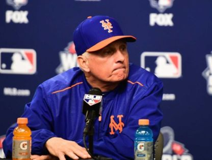 New York Mets manager Terry Collins answers questions following his teams defeat at the hands of the Kansas City Royals in the 2015 World Series. Photo Credits: Newsday.com