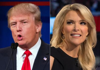 This week Donald J. Trump patched up his relationship with Fox News Anchor Megan Kelly as he pivots towards a General Election campaign against a splintered Democratic Party AP Photo/John Inchillo,