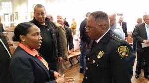 Ernest Finley, Police Chief of the Montgomery Police Department plans ongoing community meetings in the wake of the Greg Gunn cop related shooting.