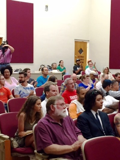 Supporters of Green Party Presidential candidate Jill Stein filled a lecture auditorium at the historic Interdenominational Theology Center on June 30, 2016 seeking to make history through a petition drive to include the state's first third party candidate on the General Election Ballot. Photo Credits: (c) 2016 Harold Michael Harvey