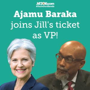 Jill Stein and Ajamu Baraka Stein 2016 Campaign Photo