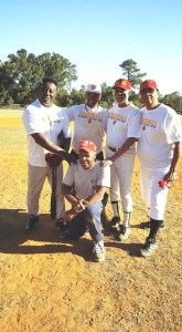 Tuskegee Baseball Players 1973 with Coach Reggie Hollins