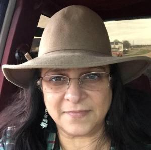 Patricia Marsh in car