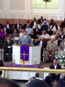 Farrakhan at West Hunter Street