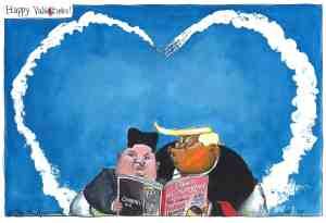 Kim Jong Un Trump Cartoon Guardian