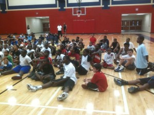 Sharone Wright Basketball Camp Kids