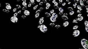 diamonds on black velvet