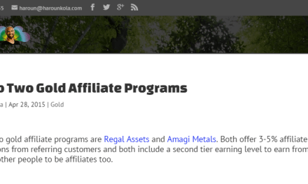 Physical gold affiliate programs