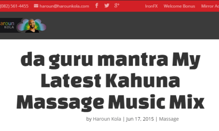 da guru mantra My Latest Kahuna Massage Music Mix