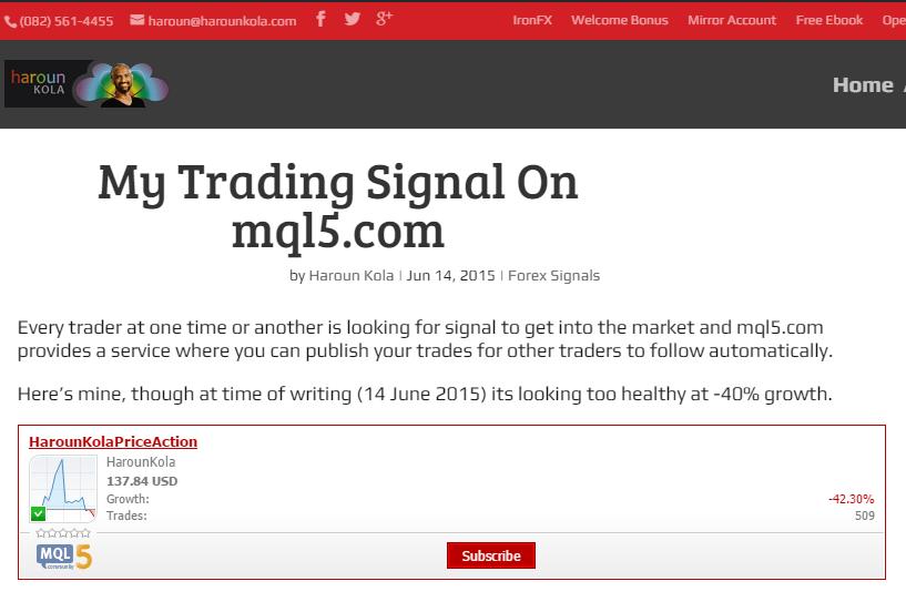 My Trading Signal On mql5.com