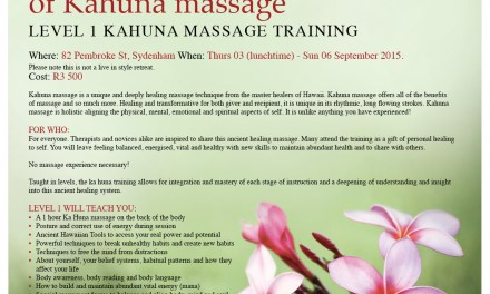 KAHUNA LEVEL 1 JHB 3-6 SEPTEMBER 2015