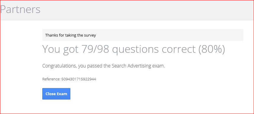 Passed-Google-Adwords-Certification
