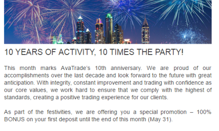 Celebrate 10 Years of Trading With AVATrade