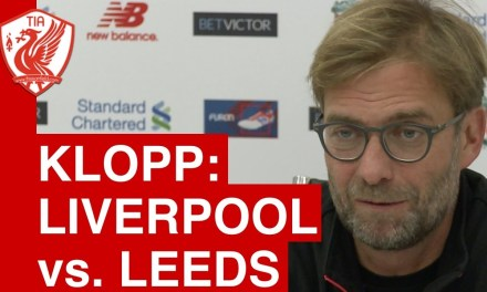 Liverpool v Leeds United in the League Cup. Jurgen Klopp's Pre-Match Press Conference talks about the teams preparations