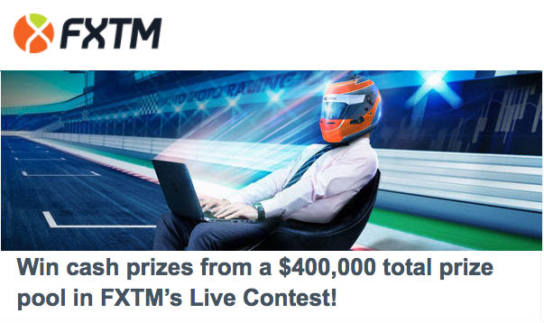 Win cash prizes from a $400,000 total prize pool in FXTMs Live Contest
