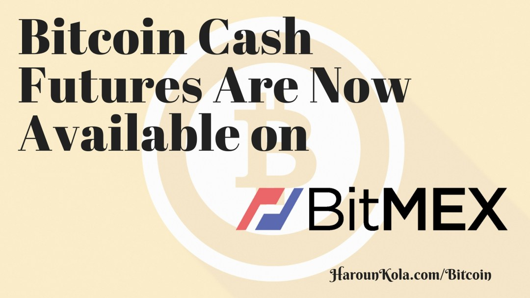 Bitcoin Cash Futures Now Live on BitMEX