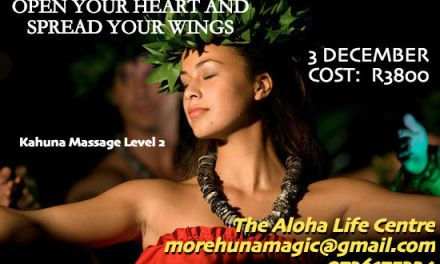 KaHuna Massage Level 2. 3 December 2017