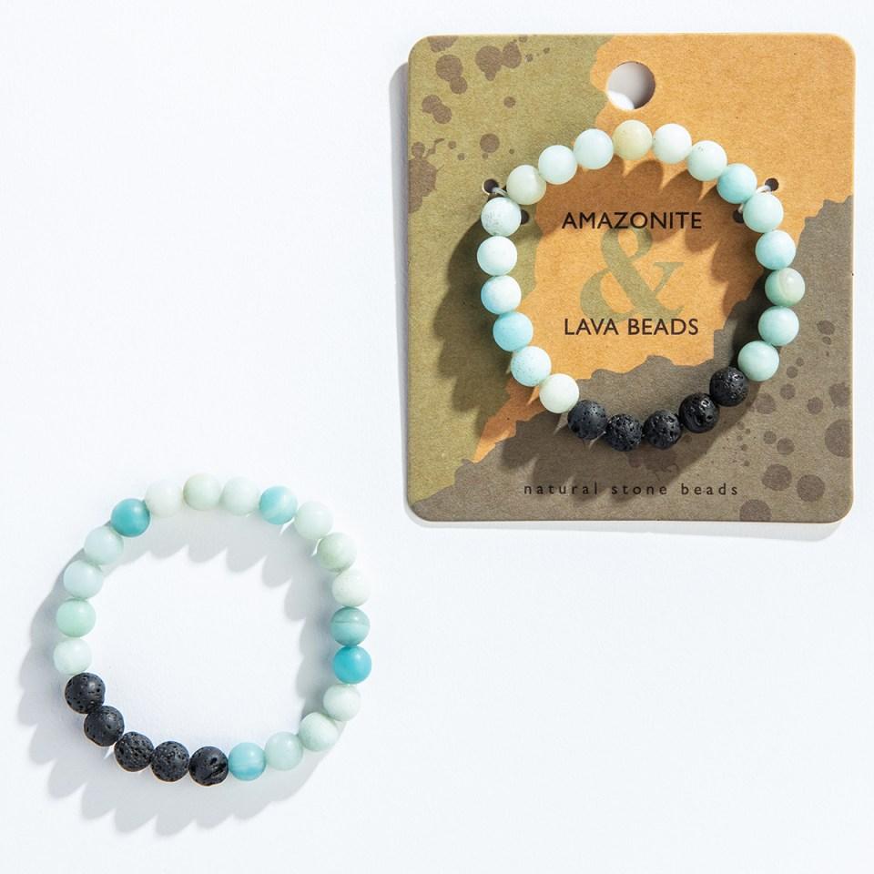 Amazonite Lava Bracelet