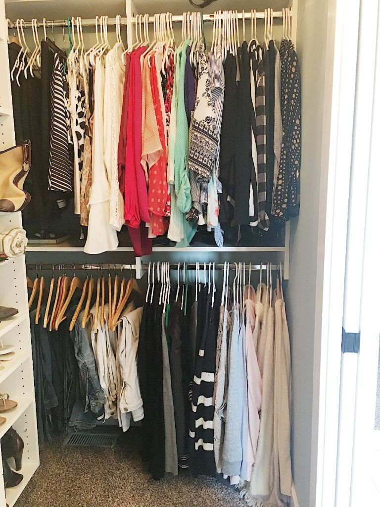 How to organize your master closet, color code and streamline your wardrobe