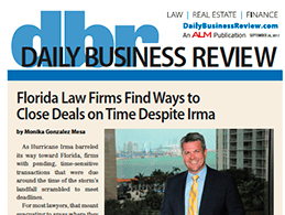 The Daily Business Review quotes James Meyer