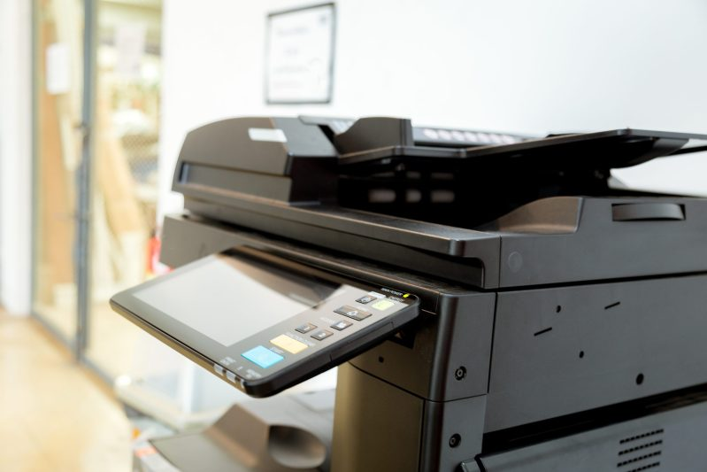 Image of printer in room to demonstrate managed print services london and uk