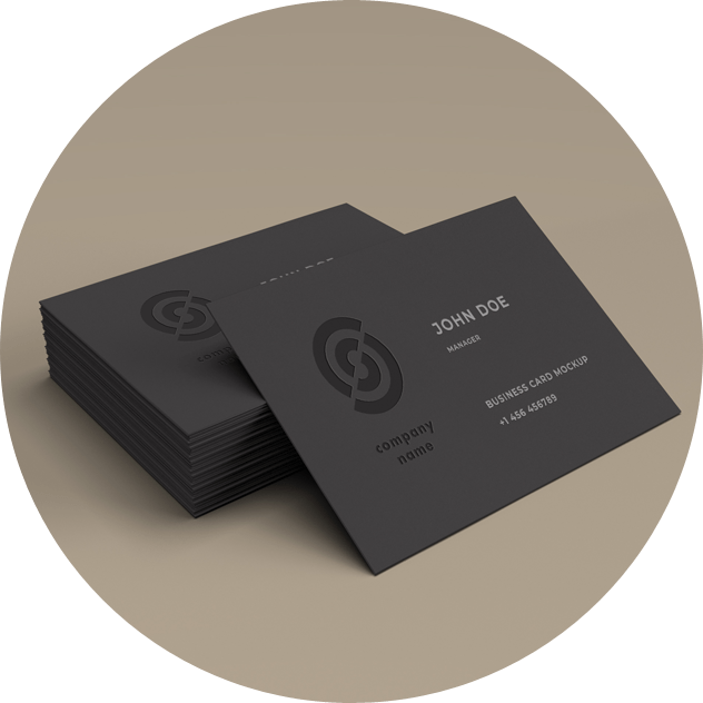 image of business cards linking to business cards and letterheads page