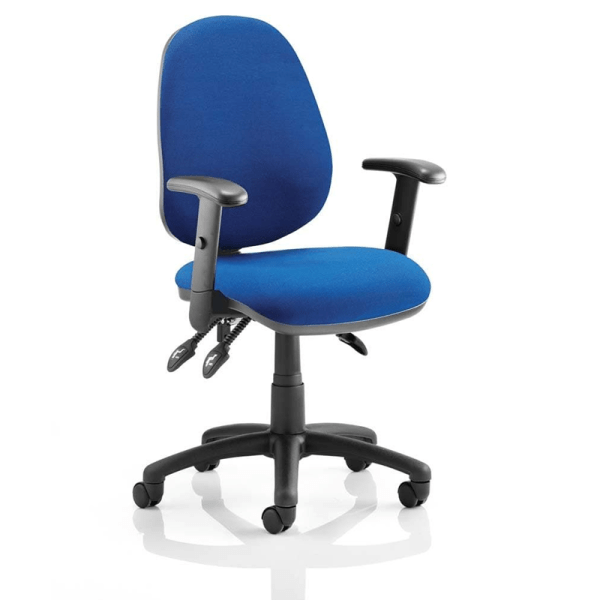 Picture of blue operator chair in the office chairs range