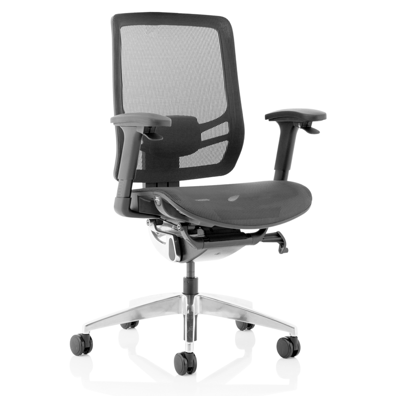 """Posture excellence is achieved by the Ergo Click with its """"fly by wire"""" technology that puts key adjustments at your fingertips. The ErgoClick sets new standards in design and posture support."""