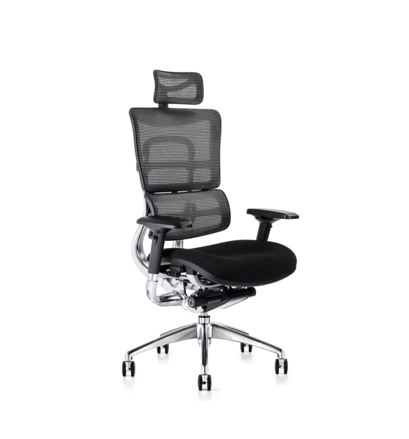 i29 ergonomic chair with fabric seat and ergonomic headrest