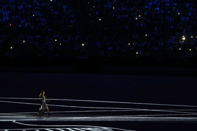 Opening ceremony: Gisele Bundchen, Brazil's most famous model export – and arguably the most successful supermodel of all time – turns the stadium into a super-sized catwalk.