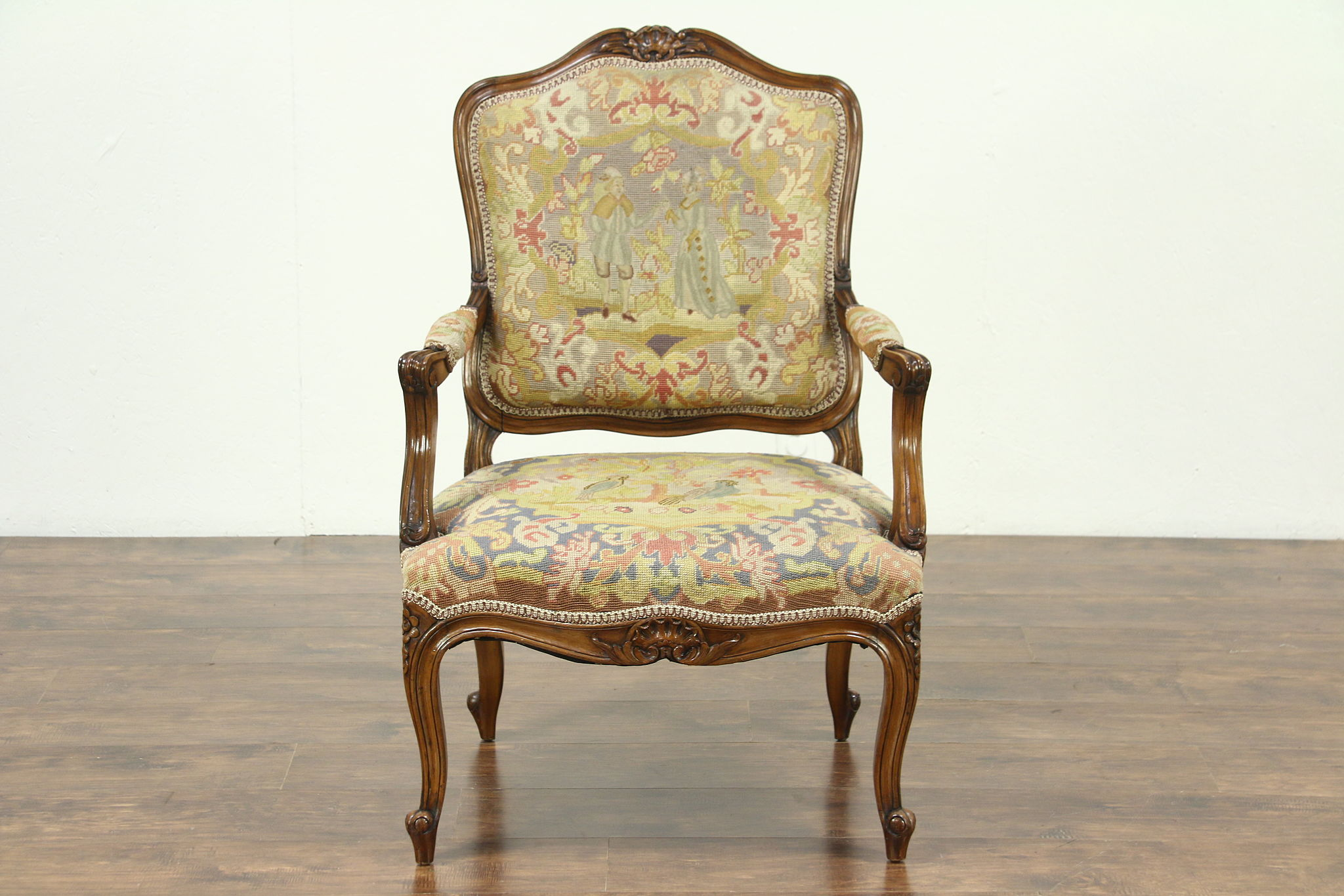 Antique Chair Sold Carved 1920 Antique Chair Needlepoint And Petit
