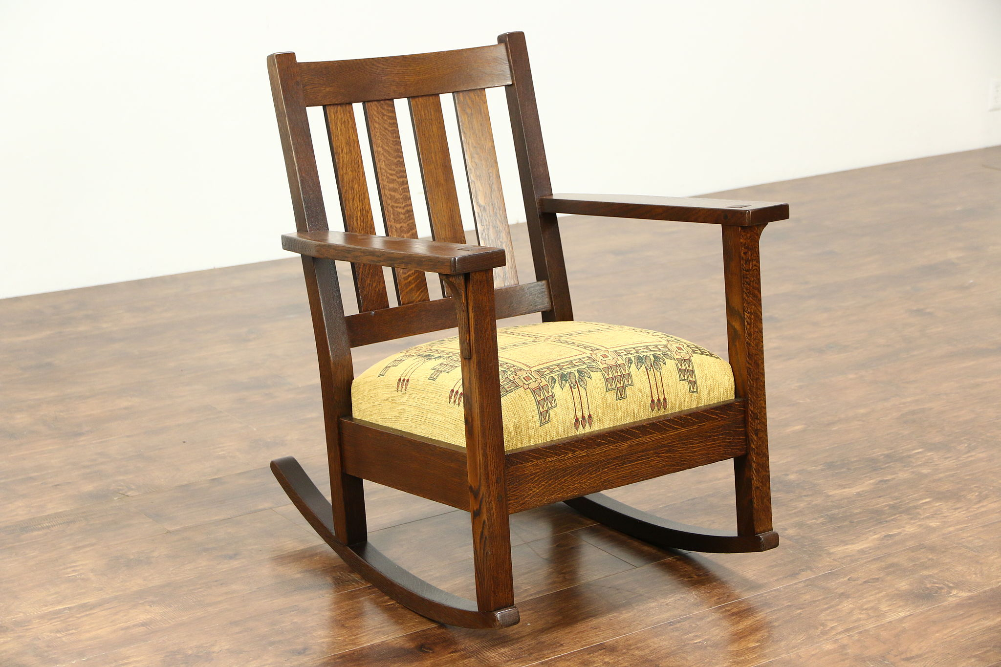 Antique Rocking Chair Sold Arts And Crafts Mission Oak Rocking Chair Antique