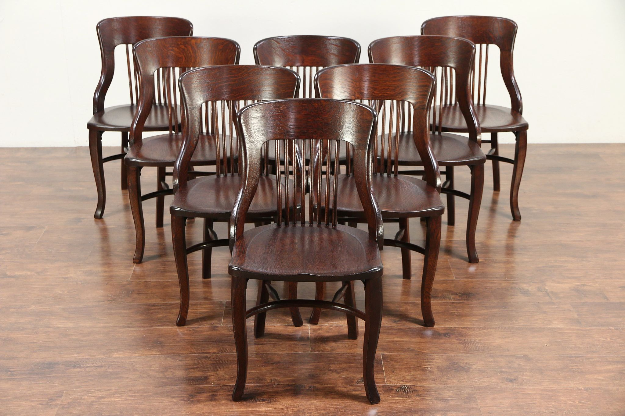 Heywood Wakefield Dining Chairs Set Of 8 Antique Quarter Sawn Oak Dining Chairs Heywood Wakefield Chicago 29794