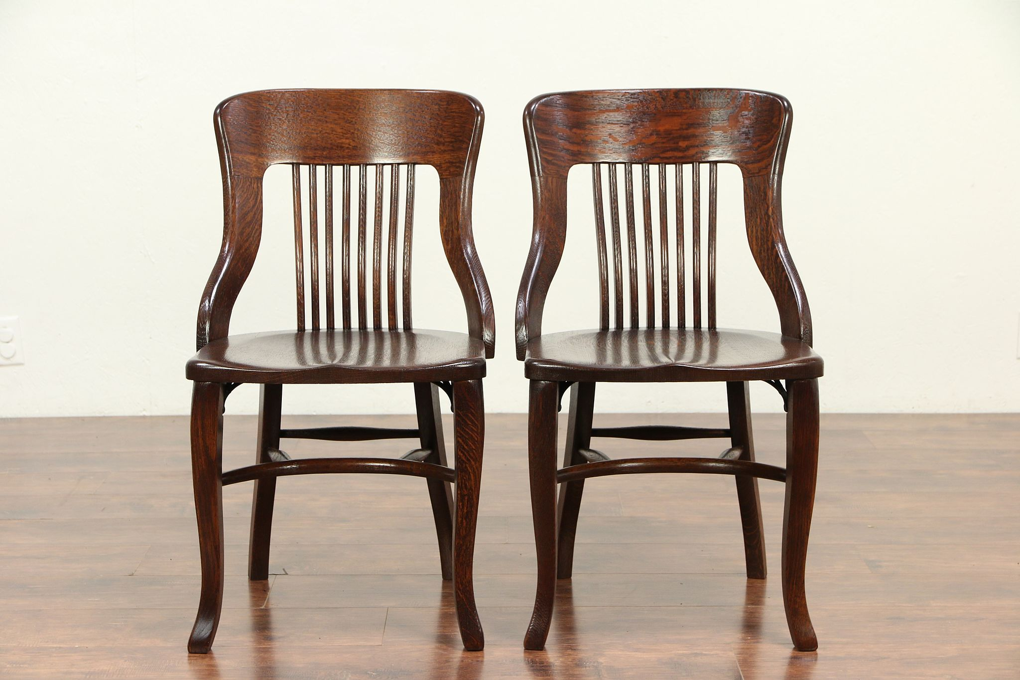 Heywood Wakefield Dining Chairs Pair Antique Quarter Sawn Oak Dining Chairs Heywood Wakefield Chicago 29261