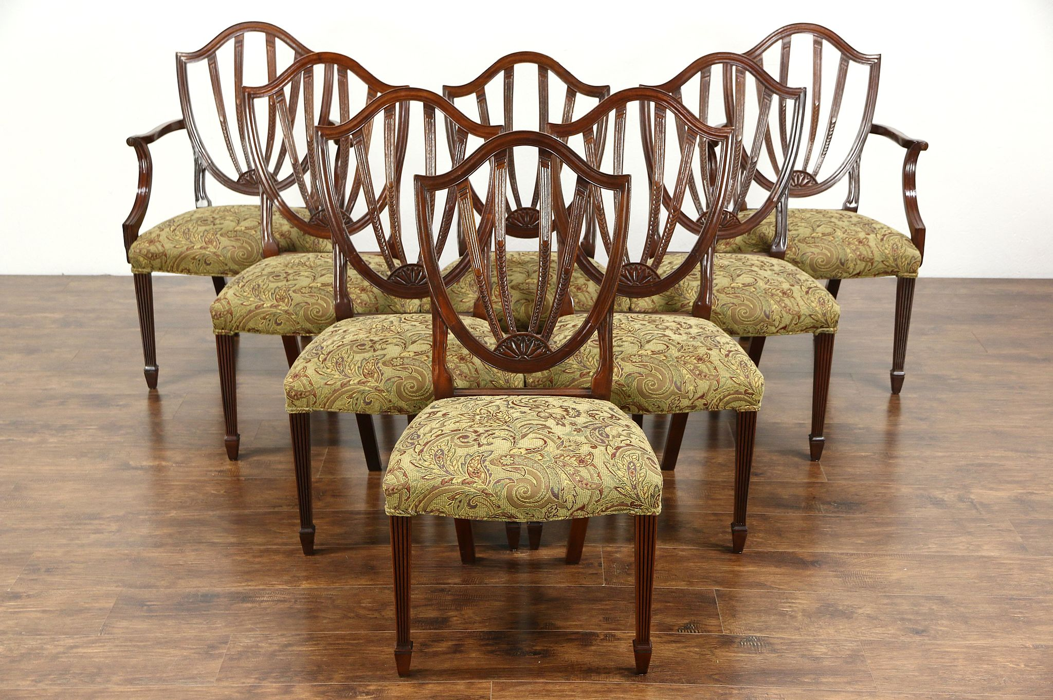 Baker Dining Chairs Sold Set Of 8 Baker Historic Charleston Signed Dining