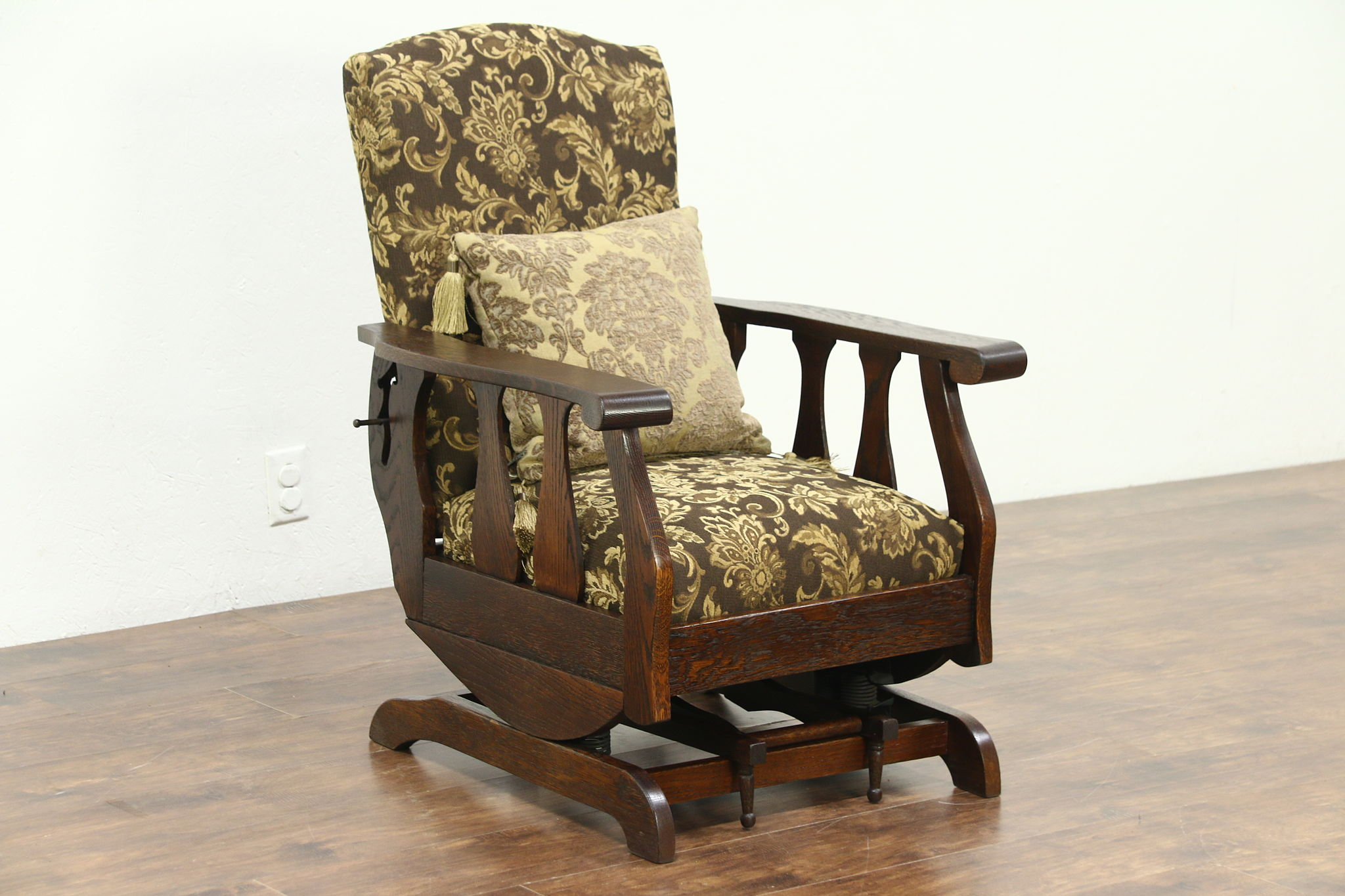 Morris Chairs Sold Oak Antique Morris Chair Recliner Platform Rocker