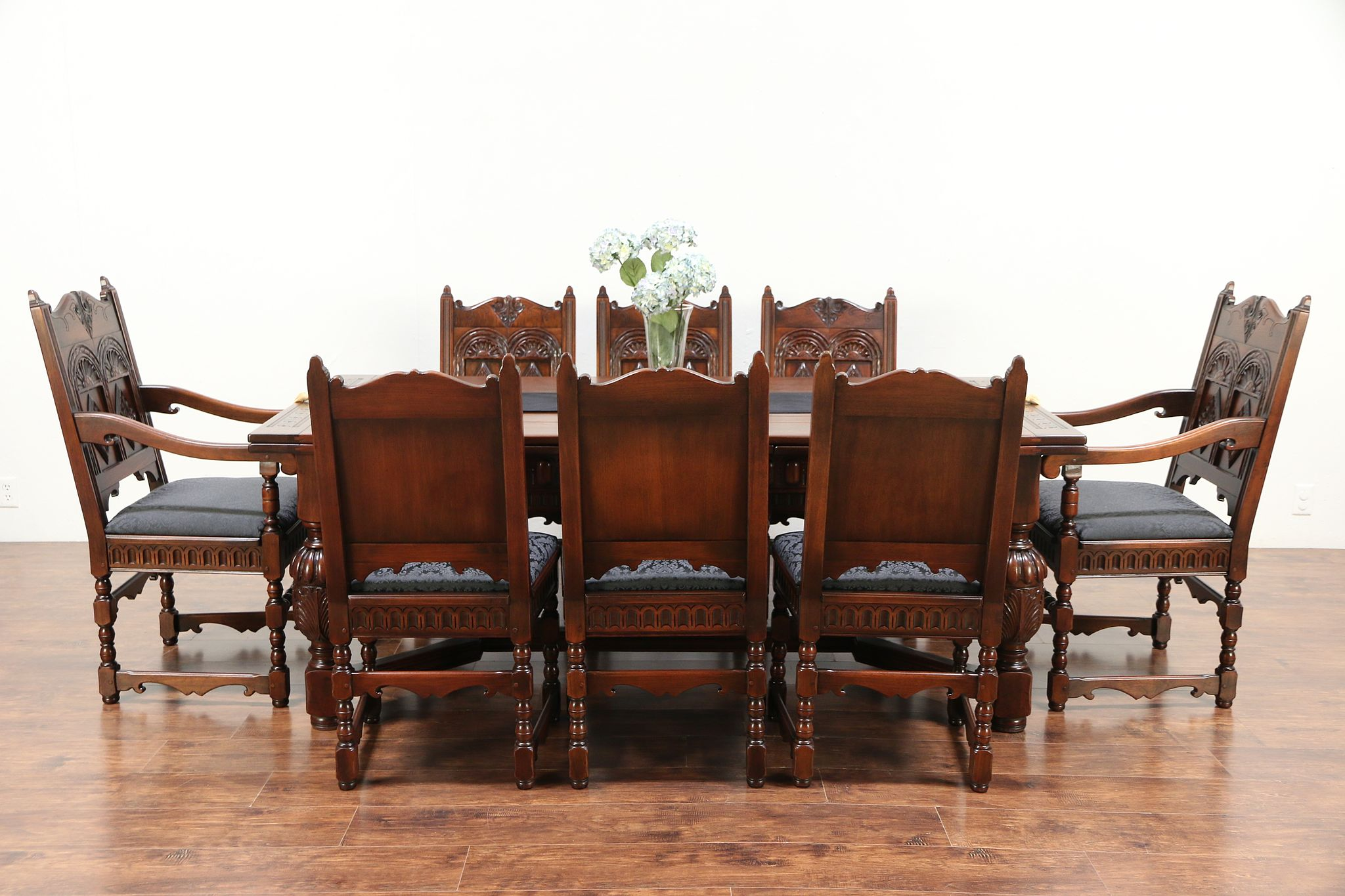 8 Chair Dining Set English Renaissance Antique Dining Set Table 8 Chairs Signed Kittinger 29557