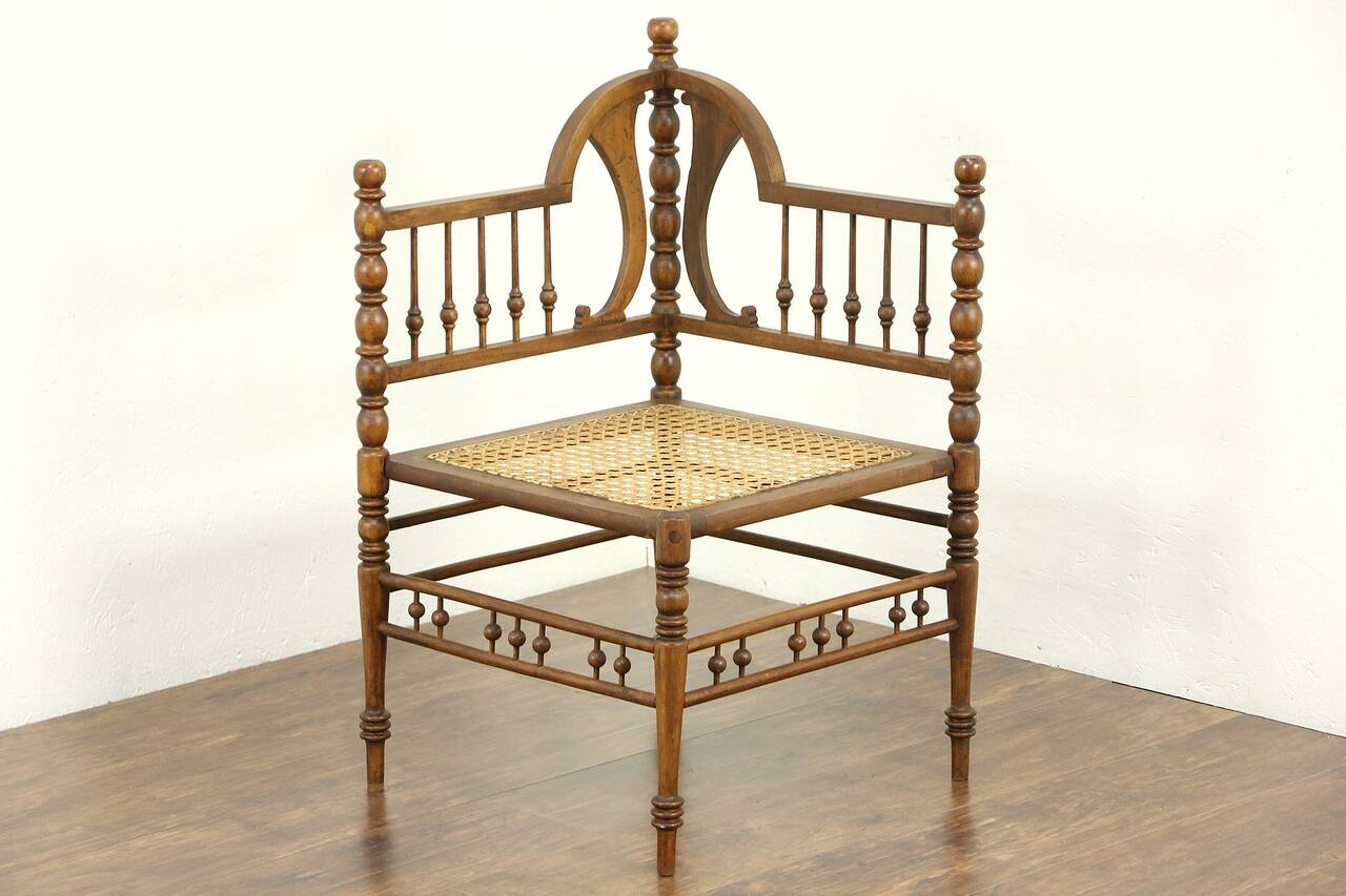 Antique Chairs Ebay Victorian 1890 Antique Stick And Ball Corner Chair Ebay