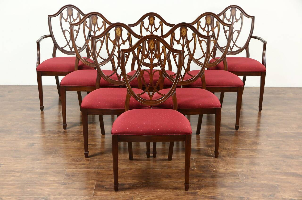 Drexel Chairs Set Of 8 Drexel Heritage Vintage Shield Back Traditional