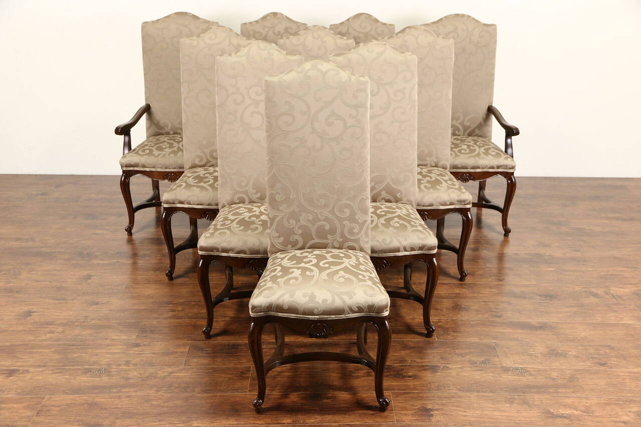 Country Dining Chairs Set Of 10 Country French Oak Vintage Dining Chairs