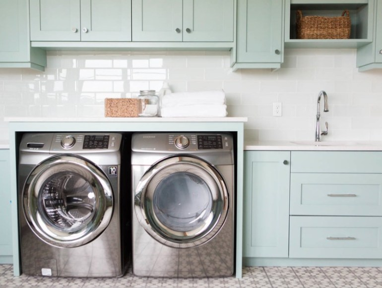 Add Built-In Cabinetry Small Laundry Room Ideas