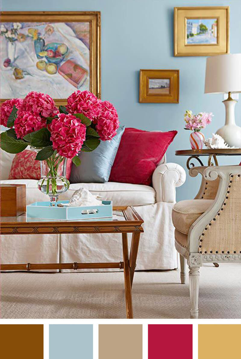 Small Living Room Decorating Ideas - The Pop of Color