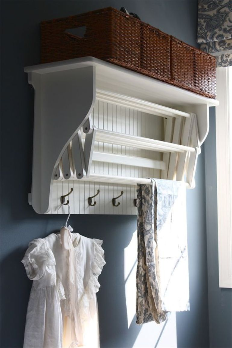 Accordion Drying Rack for Small Laudry Room Ideas