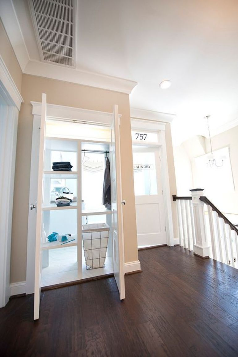 Pass-through Laundry Wall Shelving Room Ideas